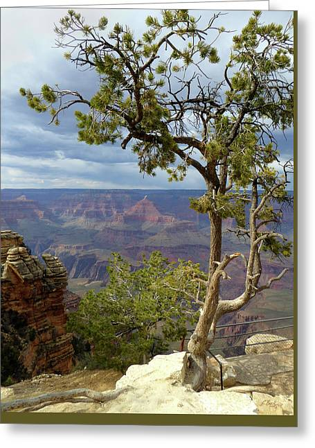 Greeting Card featuring the photograph Along The Rim by Gordon Beck