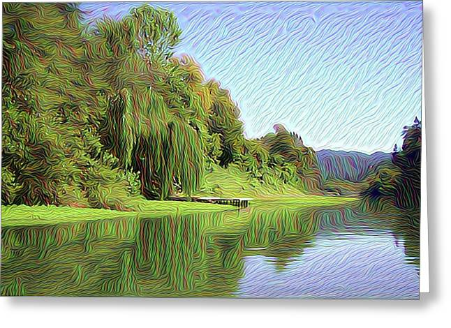 Along The Russian River 4 Greeting Card