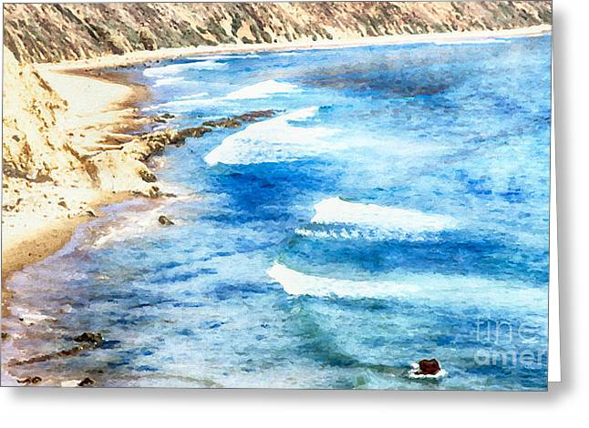 Along The Shoreline Greeting Card by David Millenheft