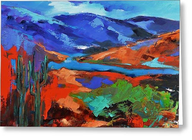 Greeting Card featuring the painting Along The Trail - Arizona by Elise Palmigiani