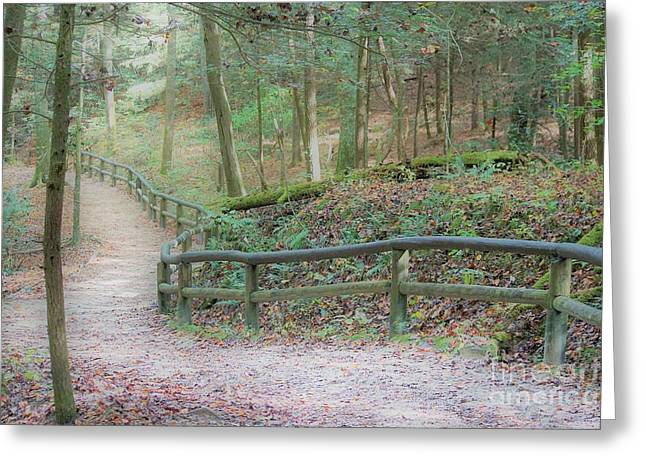 Along The Trail, Life Happens Greeting Card