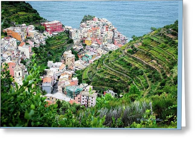 Along The Via Del Amore Greeting Card by William Beuther