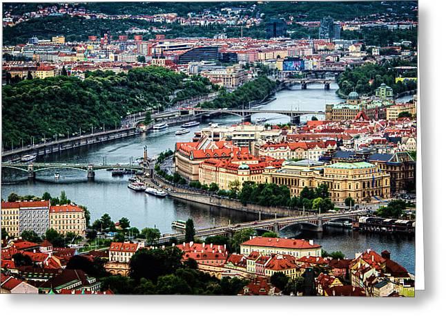 Along The Vltava River Greeting Card