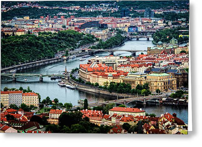 Along The Vltava River Greeting Card