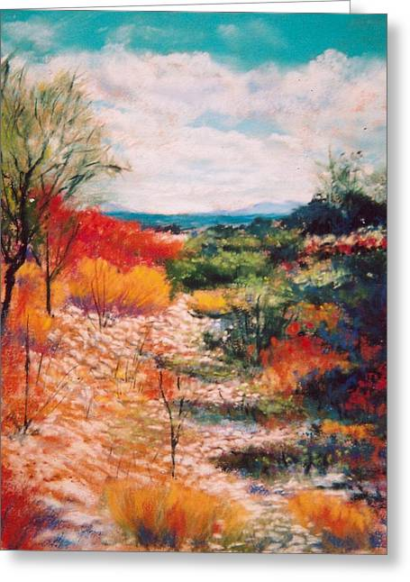 Greeting Card featuring the painting Along The Wash by M Diane Bonaparte