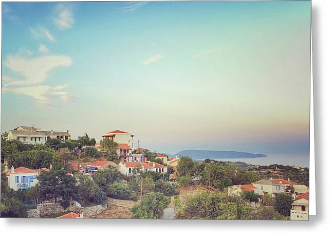 Alonissos Landscape View Greeting Card by Tom Gowanlock