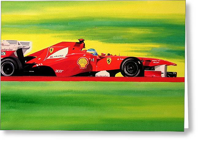 Alonso Ferrari Watercolour Greeting Card