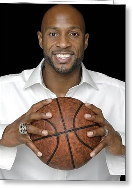 Alonzo Mourning Miami Heat New Jersey Nets Nba 94472 300x480 Greeting Card