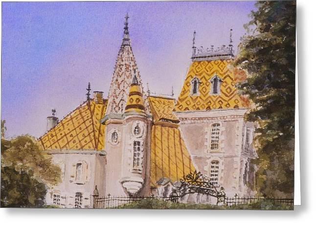 Aloxe Corton Chateau Jaune Greeting Card by Mary Ellen Mueller Legault