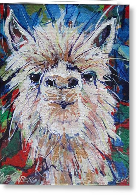 Alpaca Crazed Greeting Card