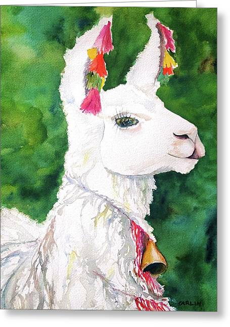 Alpaca With Attitude Greeting Card