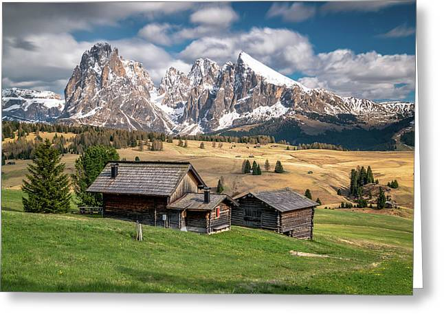 Alpe Di Suisi Cabin Greeting Card by James Udall