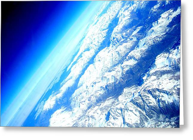 Alpen From Sky Greeting Card