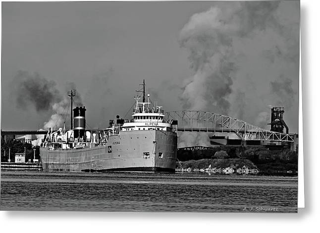 Alpena Freighter Greeting Card
