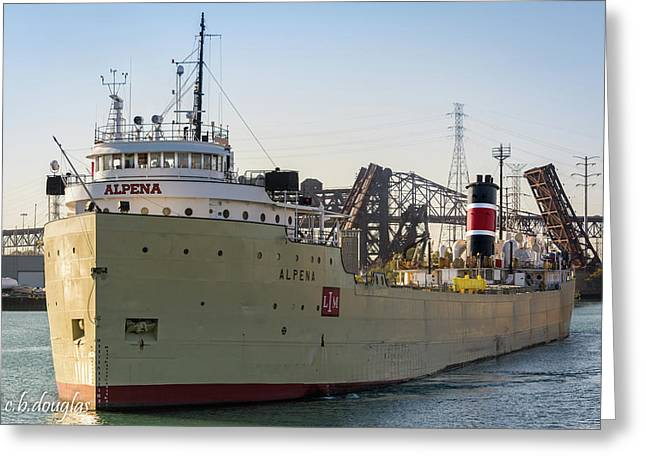 Alpena Heading Out To Lake Michigan Greeting Card