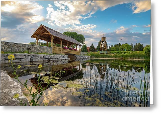 Alpena Michigan Duck Park -0257 Greeting Card