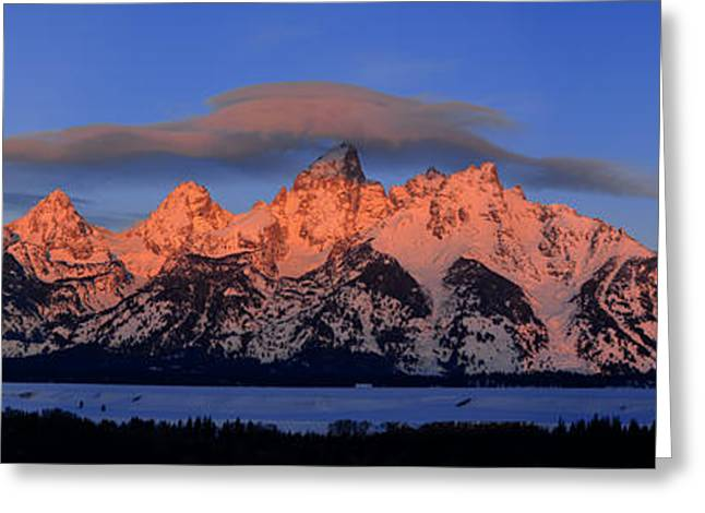 Alpenglow Tetons 2 Greeting Card