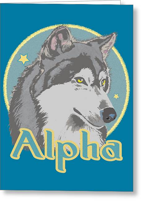 Alpha Greeting Card