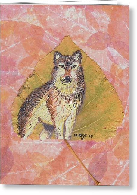 Alpha Male On Natural Leaf Greeting Card
