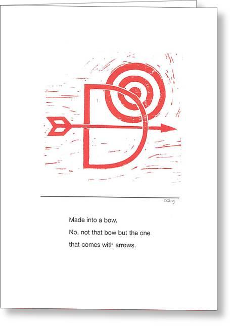 Alphabet Haiku Letter D Greeting Card
