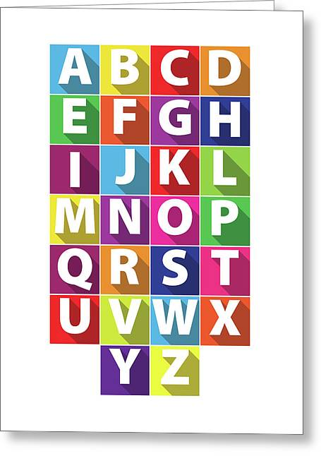Alphabet Greeting Card by Samuel Whitton
