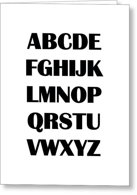 Alphabet T-shirt Greeting Card