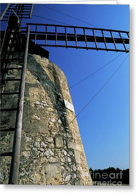 Alphonse Daudet Windmill In Provence Greeting Card by Sami Sarkis
