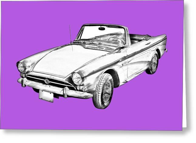 Alpine 5 Sports Car Illustration Greeting Card by Keith Webber Jr