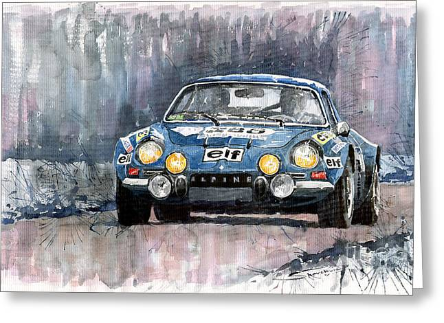 Alpine Paintings Greeting Cards - Alpine A 110 Greeting Card by Yuriy  Shevchuk