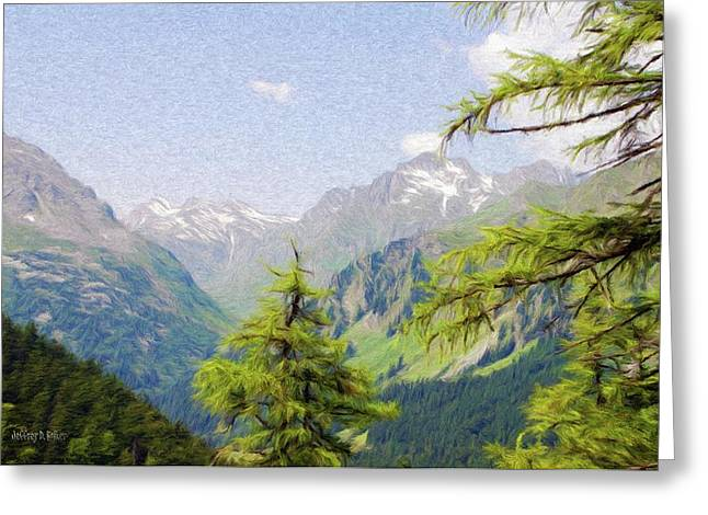 Alps Greeting Cards - Alpine Altitude Greeting Card by Jeff Kolker