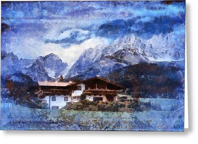 Alpine Bliss Greeting Card by Mario Carini