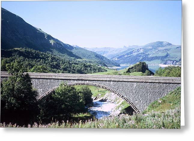 Alpine Bridge With Lake Greeting Card