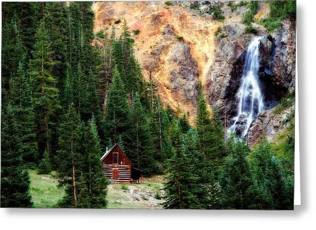 Alpine Cabin Greeting Card