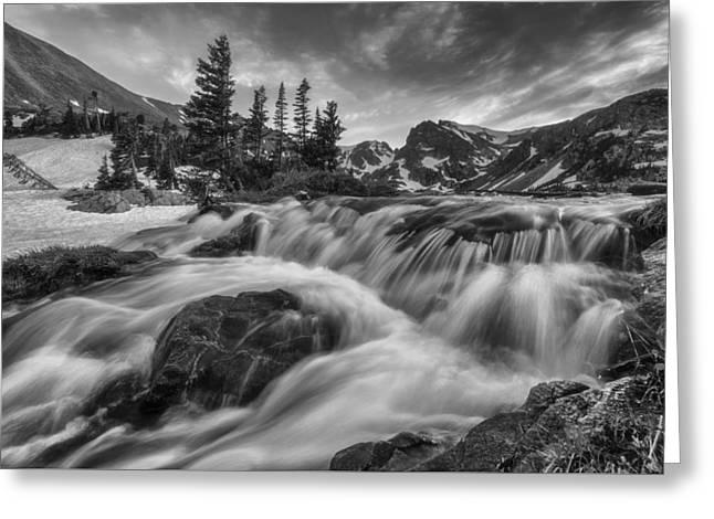 Alpine Flow Greeting Card by Darren White