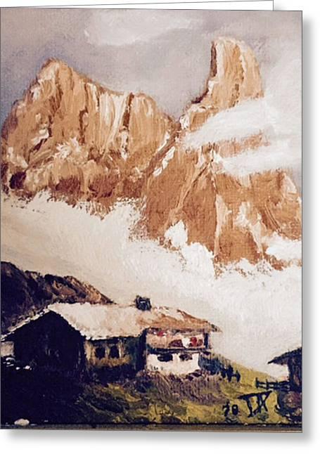 Alpine Home  Greeting Card