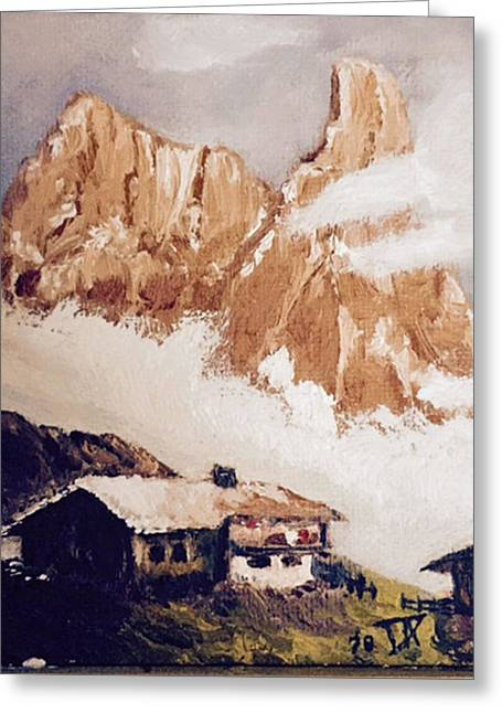Alpine Home  Greeting Card