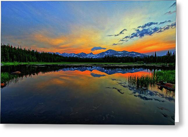 Greeting Card featuring the photograph Alpine Lake Glow by Scott Mahon