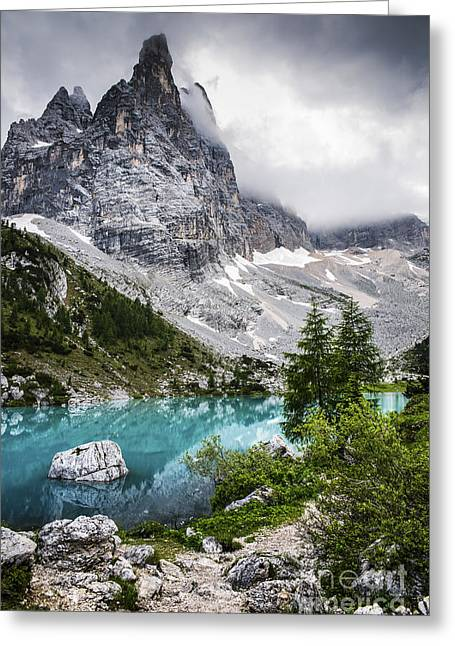 Alpine Lake Greeting Card by Yuri Santin