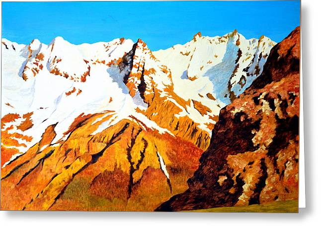 Alpine Landscape Greeting Card by Henryk Gorecki