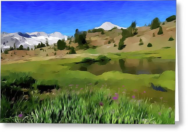 Alpine Meadow By Frank Lee Hawkins Greeting Card