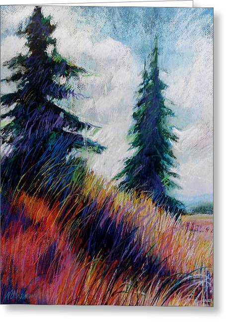 Alpine Meadow Greeting Card by Dale  Witherow