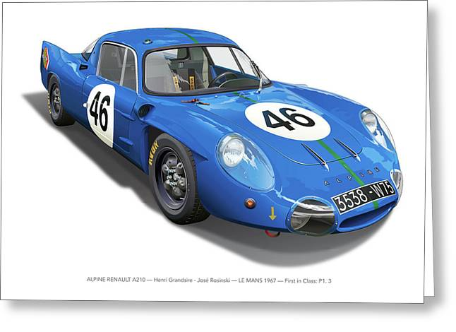 Alpine Renault A210 Greeting Card by Alain Jamar