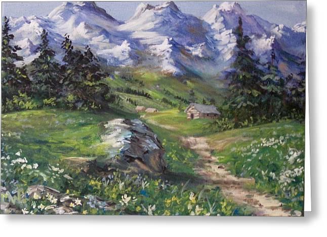 Alpine Splendor Greeting Card