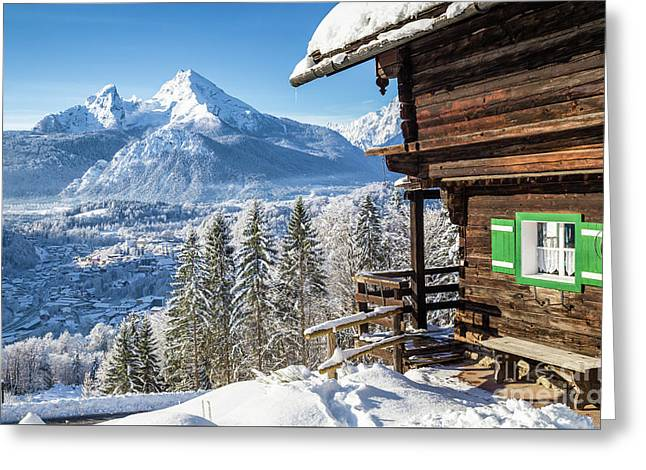Alpine Winter Wonderland Greeting Card