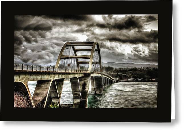 Alsea Bay Bridge Greeting Card