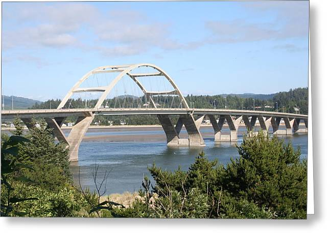 Alsea Bridge Br 7002 Greeting Card by Mary Gaines