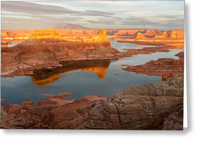 Greeting Card featuring the photograph Alstrom Point Panorama by Dustin LeFevre