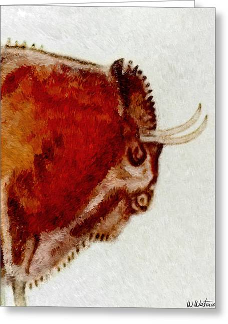 Altamira Prehistoric Bison Detail Greeting Card