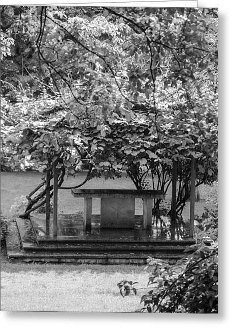 Altar In The Garden Greeting Card