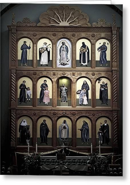 Altar Screen Cathedral Basilica Of St Francis Of Assisi Santa Fe Nm Greeting Card